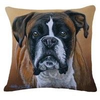 2016 Real Capa De Almofada Decorative Pillows Moden Animal Style Dog Cushion Cover Printed Sofa Decorative Throw Pillows Cojines