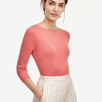 Cotton Boatneck Tee | Ann Taylor