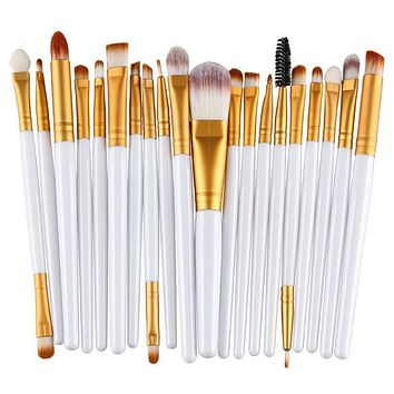 20pcs Eye Makeup Brushes Set Eye shadow Blending Brush Powder Foundation Eye shading Eyebrow Lip Eyeliner Brush Cosmetic Tool