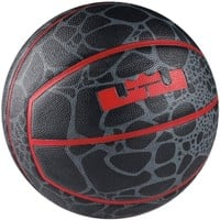 """Nike Lebron XII Playground Basketball (28.5"""") - Grey/Red 