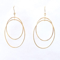 Jump Thru Hoops Earrings In Gold