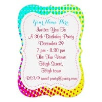 Funky Bright Colorful Party Time Announcements