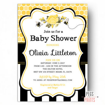 shop bumble bee invitations on wanelo