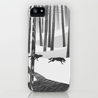 Martwood Wolves iPhone & iPod Case by Martynas Pavilonis