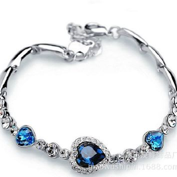 Stylish Awesome New Arrival Gift Hot Sale Shiny Great Deal Sea Crystal Korean Accessory Bracelet [27793424404]