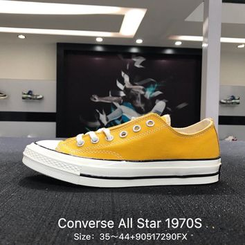 Converse Chuck Taylor All Star 1970s Yellow White  Low Canvas Shoes