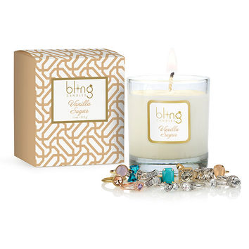 Bling Vanilla Sugar Candle with Hidden Jewels