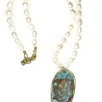 Turquoise Fresh Water Pearl Necklace