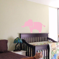 KIDS WALL ART STICKER BABY ROOM NURSERY BOY GIRL BEDROOM FUNNY ELEPHANT 02