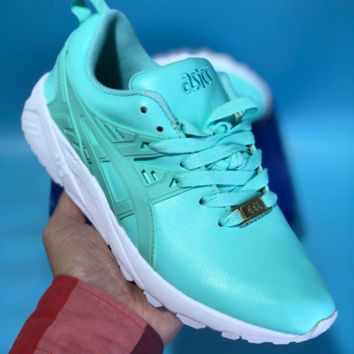 KUYOU Asics Gelkayno Leather Ratro Sport Sneaker Green