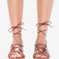 Indio-02 Laced Up Lux Gladiator Sandal