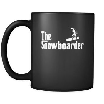 Snowboarding The Snowboarder 11oz Black Mug