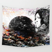 Cloudy Thoughts Wall Tapestry by J.Lauren