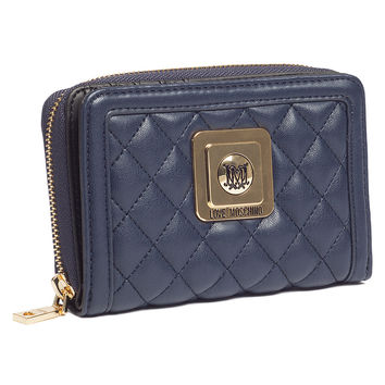 Moschino Navy Blue Compact Wallet