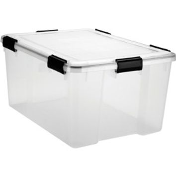 Plastic Storage Box with Lid - 63 Quart