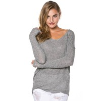 Lightweight Sweater for Lounging in Grey
