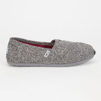 Toms Silver Karsen Womens Classic Slip-Ons Charcoal  In Sizes