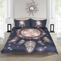 Rose Gold Metallic Dreamcatcher Duvet Set