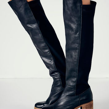 Choudory 2017 Women Leather Thigh High Boots Knee High Botas Mujer Mid Heels Winter Botte Femme Plus Size Cowboy Shoes Woman