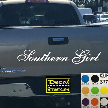 Southern Girl Tailgate Decal Sticker 4x4 Diesel Truck SUV