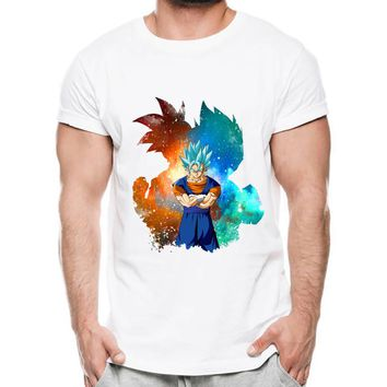 Dragon Ball T Shirt Men Summer Dragon Ball Z Super Son Goku Vegeta T-Shirts Casual DragonBall Tshirt Homme
