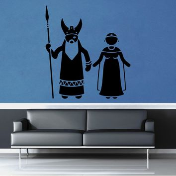 Odin and Frigg - No 2 - Wall Decal$16.95