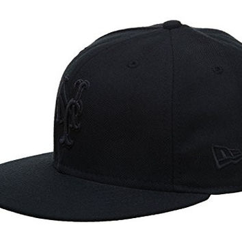 New Era New York Mets Fitted Hat Mens Style: HAT496-BLACK Size: 6 7/8