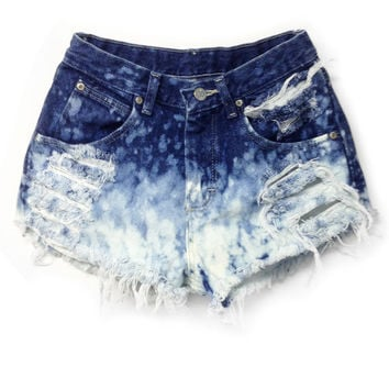 High Waisted Jean Shorts - Bleached