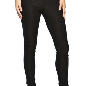 Girls 3 Button High Rise Super Stretch Jegging-Black