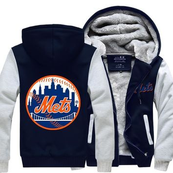 [50% OFF !!] EXCLUSIVE NEW YORK METS HOODIE JACKET - FREE SHIPPING