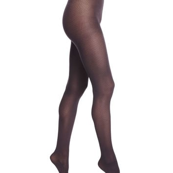 Amara Tights with Opaque Check, Size: