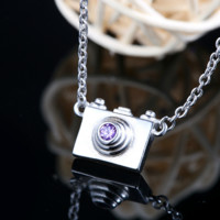 Dainty Camera Necklace  - 925 Sterling Silver