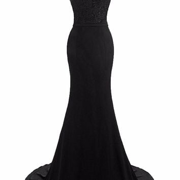 New Arrival Boat Neck Short Sleeves Mermaid Prom Dresses Lace Sweep Train Evening Dress Long Formal Party Gown Plus Size