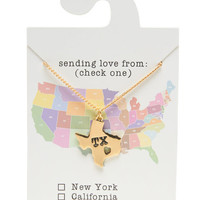 Texas Love Pendant Necklace | Wet Seal