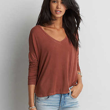 AEO Soft & Sexy Drop Shoulder T-Shirt, Gold