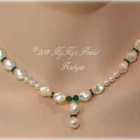 Pearl Bridesmaid Necklace, Bridesmaid Jewelry, Wedding Jewelry, Bridal Necklace, Mother Of The Bride