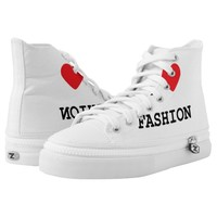 Love Fashion High Top Shoes Printed Shoes