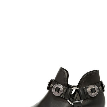 Steve Madden Aces Black Leather Ankle Booties