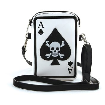 Skull in Ace Small Shoulder Bag