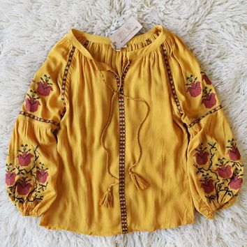Snow Marigold Top