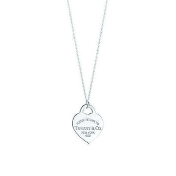 Tiffany & Co. - Return to Tiffany® heart tag charm in sterling silver on a chain, extra large.