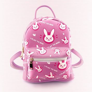 Overwatch Dva Bunny I Play To Win Backpack