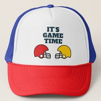It's Game Time Football Helmet Trucker Hat