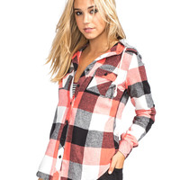 FULL TILT Buffalo Womens Hooded Flannel Shirt 249178569 | Flannels & Plaids