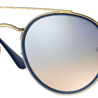 RAY BAN ROUND DOUBLE BRIDGE SUNGLASSES