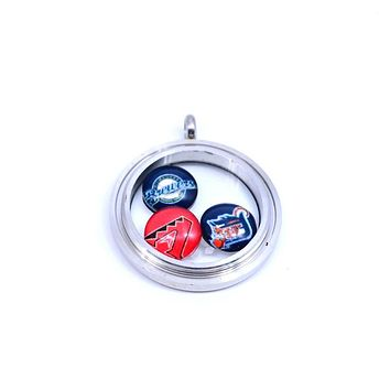 Basketball Jewelry Golden State Warriors Floating Charms for Glass Floating Charms Locket Sport Fashion 2017