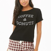 Coffee & Donuts Graphic PJ Set