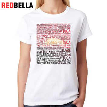 Cool T-shirt Women Africa Sunset Illustration Womens Tee Cotton Tumblr Letter Graphic Female Clothes Camiseta Mujer Funny Tops