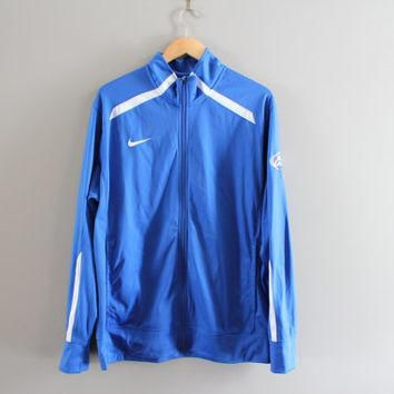 US Free Shipping Nike Zip Up Sweatshirt Blue NFL Jersey Nike Football Jacket Sport Act