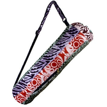 Colorful Patchwork Batik YOGA MAT TOTE Bag - Supporting the Deaf in Ghana